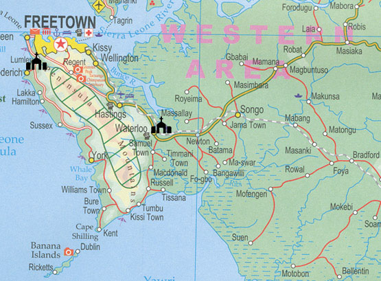 calvary chapel sierra leone map