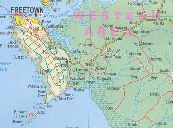 western peninsula map